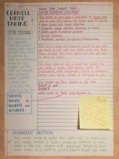 cornell note taking | Tumblr