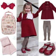 "1,180 Likes, 18 Comments - Royal Addicted (@royaladdicted2) on Instagram: ""Princess Charlotte Style! Coat: Amaia Kids; Tights: Amaia Kids; Shoes: Dona Carmen; Ribbon: Amaia…"""
