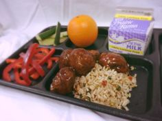 BBQ Teriyaki Meatballs with Asian Stir Fried Rice made with BBQ Teriyaki Sauce Mix (V429) and Asian Stir Fried Rice Seasoning Mix (S140)