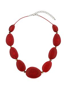 Shop plus size clothing at Evans, sizes On-trend plus size fashion to flatter your shape. Red Jewelry, Beaded Jewelry, Jewlery, Girls Fashion Clothes, Girl Fashion, Gamma Phi, Red Necklace, Shades Of Red, My Favorite Color