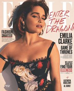 Emilia Clarke Has Sleepless Nights Over 'Game of Thrones' - Find Out Why!: Photo Emilia Clarke is fabulous in a Dolce&Gabbana dress on the cover of Elle magazine's August 2017 issue, on newsstands July Here's what the Emilia Clarke Hot, Emelia Clarke, Daenerys Targaryen, Khaleesi, Game Of Throne Daenerys, Feminist Icons, Elle Magazine, Magazine Covers, Elle Us