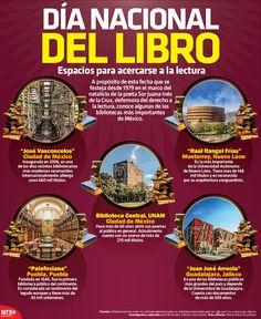 Conoce algunas de las bibliotecas más importantes de México. #InfografíaNTX
