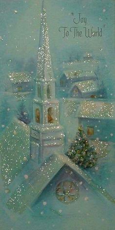 Vintage Christmas Images, Old Christmas, Christmas Scenes, Christmas Cards To Make, Retro Christmas, Vintage Holiday, Christmas Greeting Cards, Christmas Pictures, Christmas Greetings
