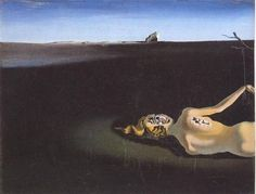 """Woman Sleeping In A Landscape"" Salvador Dali 1931"