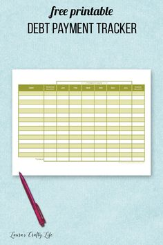 31 days of free printables to get your home life organized. Today's printable is a debt payment tracker. Home Management Binder, Dry Erase Markers, 31 Days, Financial Tips, Money Matters, Life Organization, Ways To Save Money, Getting Organized, Debt