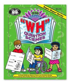 """Loving this """"WH"""" Question Scenes Activity Book on #zulily! #zulilyfinds"""