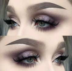 Do you have gray eyes and still do not know which make-up is the most flattering even after years of experimentation? Then our photo gallery and some make-up tips will. Makeup Goals, Makeup Inspo, Makeup Inspiration, Beauty Makeup, Makeup Ideas, Makeup Hacks, Makeup Kit, Grey Makeup, Makeup For Green Eyes