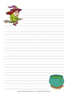 halloween writing paper witch - Printable Halloween Writing Paper