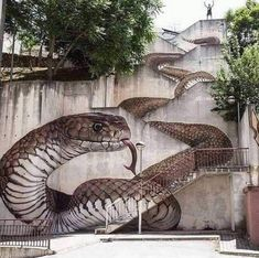 """The next level! Amazing Street art in Guarda, Portugal Artist: Sfhir"" 3d Street Art, Street Art Banksy, Murals Street Art, Amazing Street Art, Art Mural, Amazing Art, Amazing Things, Beautiful Things, Awesome"