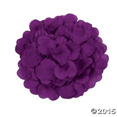 Purple Rose Petals from Oriental Trading, $5.99 for 200