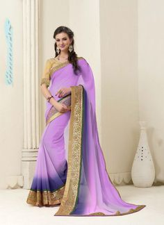 Lovely collection of saree available at best price. Buy this georgette pink designer saree.