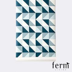 Ferm Living Remix Wallpaper Blue available at LoftModern.com