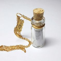 Song in a bottle necklace--best valentines day gift ever!