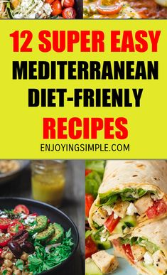 MEDITERRANEAN DIET FRIENDLY RECIPES The Mediterranean diet has been around for a while, but it's been drowned out by Keto, at least I think so.Therefore, we're going to showcase it on here today! Talking about food excites me. New ways of eating healthy a Keto Desserts, Healthy Snacks For Diabetics, Eating Healthy, Diabetic Snacks, Mediteranian Diet Recipes, Easy Mediterranean Diet Recipes, Mediterranean Food, Best Diet Foods, Diet Plans To Lose Weight Fast