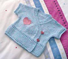 3 Year Old Baby Knit Cardigan Baby Knitting Patterns, Knitting For Kids, Knitting Designs, Baby Boy Vest, Toddler Vest, Baby Boys, Brei Baby, Costura Fashion, Ravelry