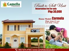 Built to Sell | On-Going Units now available for reservation, for only Php 30,000 you can already avail our very own Carmela Model House. Hurry!! Reserve this Unit Now! Just contact our trusted digital marketing team to assist you.   For more inquiries and FREE site tripping, you may reach us through: Primary Number: 0917-671-4765 (Globe) 0926-525-8029 (Smart) 0939-884-4403 (Viber | WhatsApp) (+63) 905-436-2387 Email: camellaprovenceofficial@gmail.com Visit us: www.camellabulacan.net/malolos