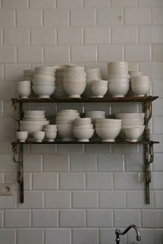 The cereal lover's shelves. #Ceramics, #kitchen, #storage, #tiles