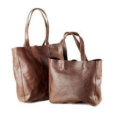 Women Leather Tote BagShoppercommuterShoulder by JoyandSurprise, $114.00