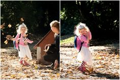 Fröhliche Herbst - Prinzessin A sunny day in autumn and a little princess