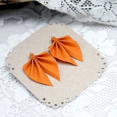 These chic stud earrings are made from recycled fabric and silver. Avaliable in more than 20 different colours! Handmade in Finland. Recycled Fabric, Orange, Yellow, Different Colors, Stud Earrings, Colours, Silver, Handmade, Hand Made
