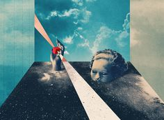 Folded Time - Julien Pacaud • Illustration • Perpendicular Dreams
