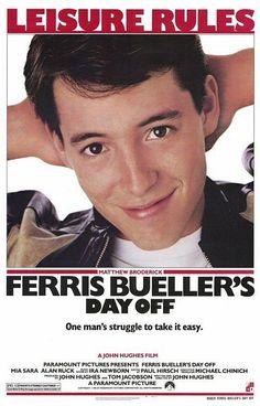 """Ferris Bueller's Day Off"" (1986). COUNTRY: United States. DIRECTOR: John Hughes. CAST: Matthew Broderick, Alan Ruck, Mia Sara, Jeffrey Jones, Jennifer Grey, Cindy Pickett, Lyman Ward, Charlie Sheen, Ben Stein"