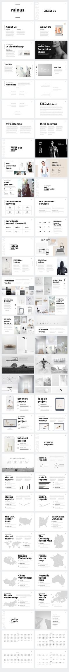 Minus Minimal Keynote Template by Slidedizer on @creativemarket
