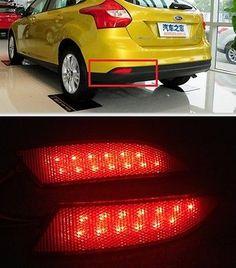 For Ford Focus 2012 2013 Red lens LED Rear Bumper Reflector Light Lamp