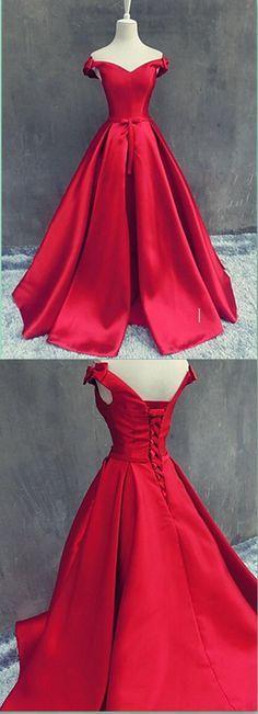 Off the shoulder Red Prom Dress,Long Prom Dresses,Charming Prom Dresses,Evening Dress Prom Gowns, Formal Women Dress,prom dress
