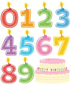 Numbered Birthday Candles and Cake. Numeral Birthday Candles and Cake Isolated o , Birthday Candle Images, Birthday Cake With Candles, Birthday Celebration, Birthday Parties, Cake Vector, Cake Stock, Happy Birthday Messages, Special Birthday, Candle Set