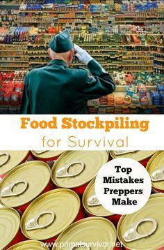 Food Stockpiling for Survival: Top Mistakes Preppers Make. Whether it is a hurricane, economic collapse, or EMP blast, you know that disaster could strike at any moment. This isn't being paranoid. This is being realistic. And when we face the reality that disasters could happen, we can take steps to prepare for them. One of the most important steps for disaster preparation is food stockpiling. Whether you are a long-time prepper or newbie, make sure you aren't making these food stockpiling…
