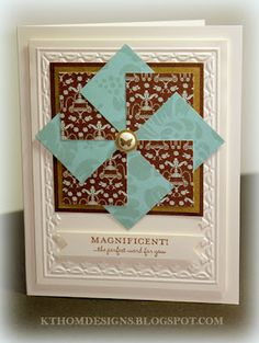 Magnificent handmade quilt card by KT Hom Designs.