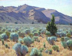 Sageland, Surprise Valley, CA || Jean LeGassick, 11x14 oil
