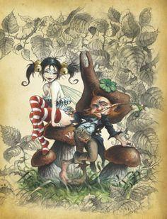 Pascal Moguérou nous plonge dans la sombre féerie | Fées, elfes, lutins | Peuple Féerique - Le Petit Monde de Richard Ely Dark Disney Princess, Comic Style Art, Pixel Art, Mushroom Drawing, Mermaid Artwork, Fairy Drawings, Frog Art, Elves And Fairies, Fairytale Fantasies