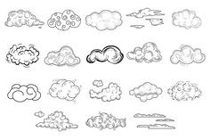 Hand Drawn Cloud Set by TopVectors on Creative Market - Niche World Shares Doodle Drawings, Doodle Art, Tattoo Drawings, Drawing Sketches, Doodle Frames, Graffiti Drawing, Graffiti Lettering, Graffiti Art, Graffiti Alphabet