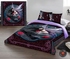 Rose fairy - Housse couette fée Anne Stokes elfe - 200x200 + 2 taies