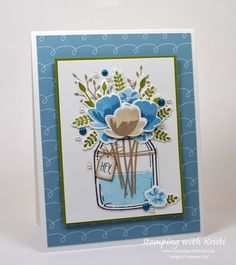 Stampin' Up! Jar of Love card by Kristi @ www.stampingwithkristi.com