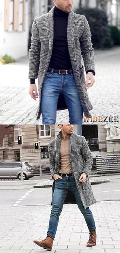 Mens Lapel Plaid Long Sleeve Fashion Source by widezee clothing styles Tan Blazer Mens, Business Casual Men, Men Casual, Best Casual Shirts, Mode Man, Mens Fashion Suits, Men's Fashion, Classy Fashion, Fashion Ideas