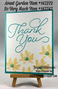 2017 Sale-A-Bration Thank You card using Avant Garden and So Very Much stamp sets from Stampin' Up!