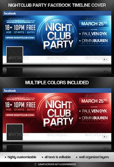 Premium And Free Facebook Timeline Cover Templates  Graphic