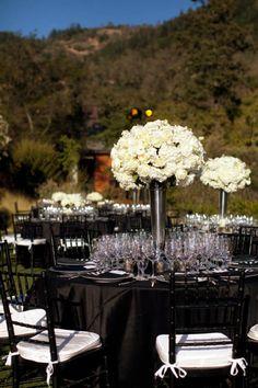 Classic black and white event design by Fleurs de France
