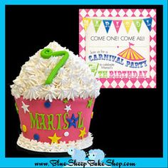 This is one of my favorites on myshopify.com: Carnival Giant Cupcake Cake