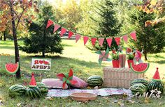 One in a melon cake smash Watermelon Photo Shoots, Watermelon Pictures, Watermelon Baby, Watermelon Birthday, First Birthday Party Themes, 1st Birthday Girls, Birthday Decorations, Mini Session Themes, Mini Sessions
