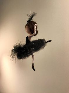 Needle felted fairy Waldorf inspired Wool Swan Lake Fairy