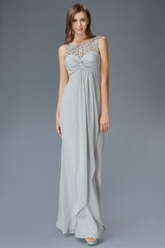 G2061 Chiffon High Neck Mother of the Bride or Bridesmaid Dress