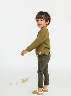Twill skinny jeans - available in more colours mini fashion Toddler Boy Fashion, Little Boy Fashion, Toddler Boys, Kids Boys, Baby Kids, Kids Fashion, Young Boys Fashion, Baby Outfits, Kids Outfits