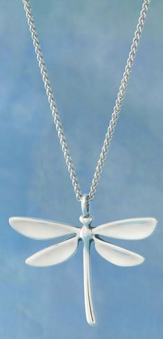 Meadow Dragonfly Pendant, Light Spiga Chain sold separately #JamesAvery