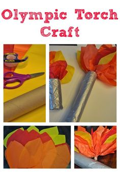 How to make an Olympics torch craft with kids via ClassyMommy.com
