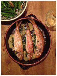 Red Mullet with Preserved Lemon and Parsley.