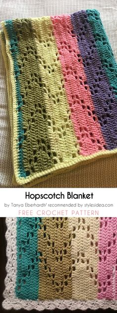 The Hopscotch Baby Blanket Free Crochet Pattern and Tutorial | Styles Idea